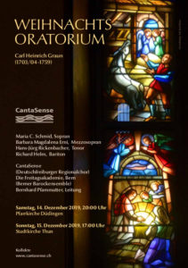 Graun: Weihnachtsoratorium @ Kath. Kirche Düdingen